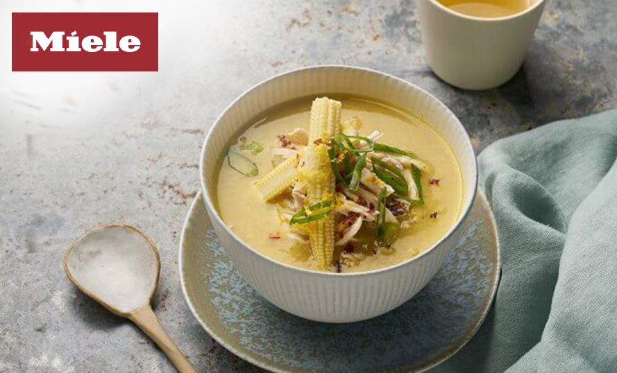Cream of Chicken and Corn Soup