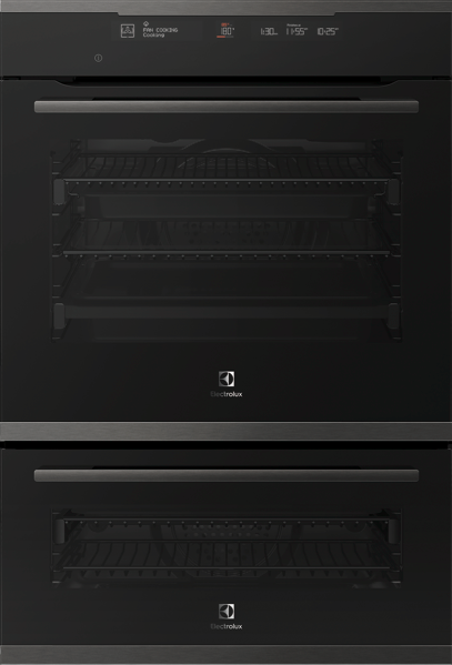 60CM BUILT-IN PYROLYTIC DOUBLE OVEN - DARK STAINLESS STEEL