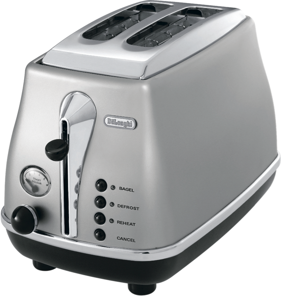 ICONA CLASSIC 2 SLICE TOASTER - SILVER