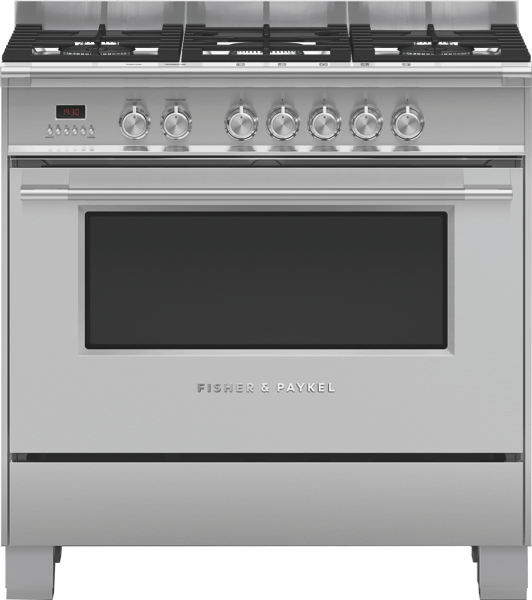 90CM DUAL FUEL FREESTANDING COOKER - STAINLESS STEEL