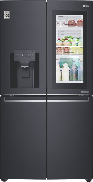 LG 910L French Door Fridge with InstaView Door-In-Door® GFV910MBSL