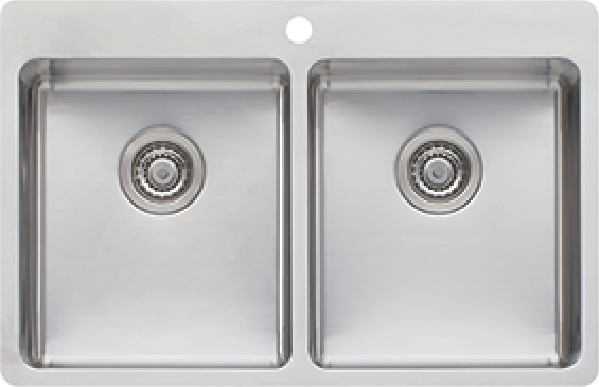 SONETTO DOUBLE BOWL TOPMOUNT SINK