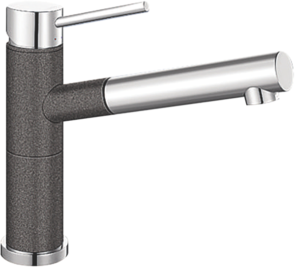ALTASA SINGLE LEVER MIXER PULL OUT TAP - ANTHRACITE
