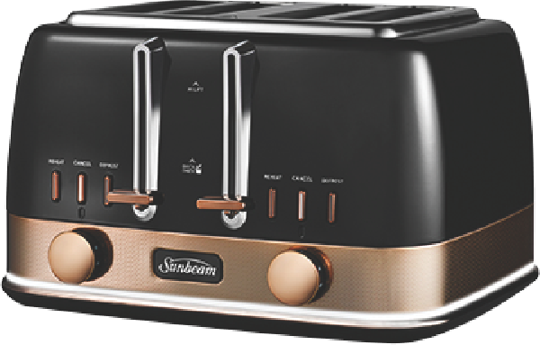 NEW YORK 4 SLICE TOASTER - BLACK BRONZE