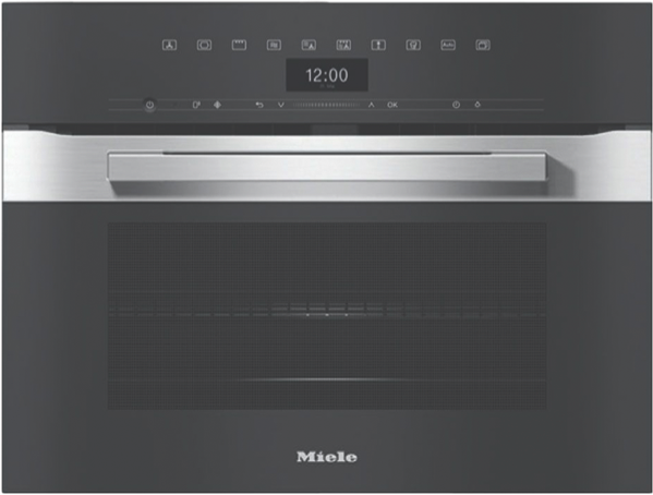 VITROLINE GRAPHITE GREY MICROWAVE COMBINATION OVEN