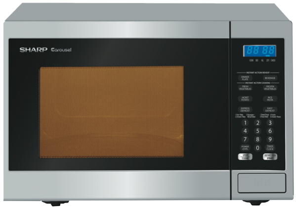 Sharp 800W COMPACT MICROWAVE – SILVER FASCIA R231ZS