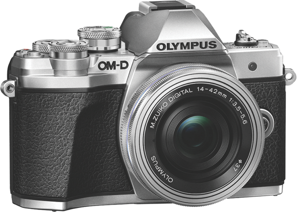 Olympus OM-D E-M10 Mark III Mirrorless Camera + 14-42mm Lens Kit - Silver V207072SA000
