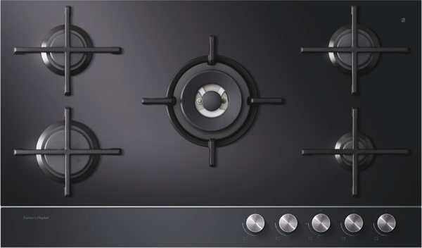 Fisher & Paykel 90cm Gas Cooktop - Black CG905DNGGB1