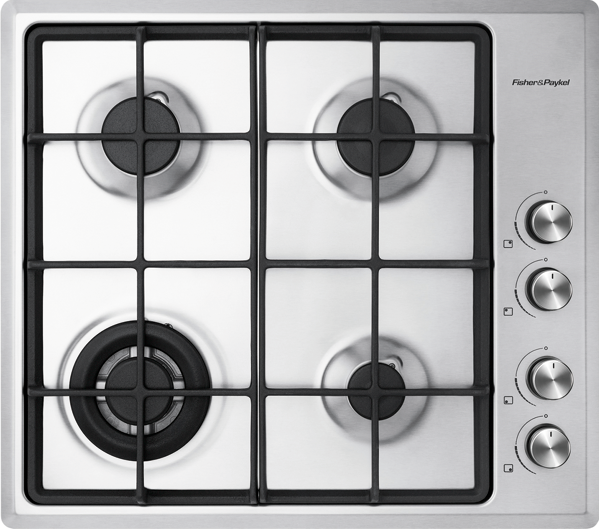 Fisher & Paykel 60cm Gas Cooktop - Stainless Steel CG604CNGX2