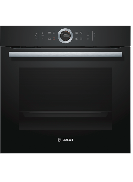 BUILT-IN PYROLYTIC OVEN - BLACK