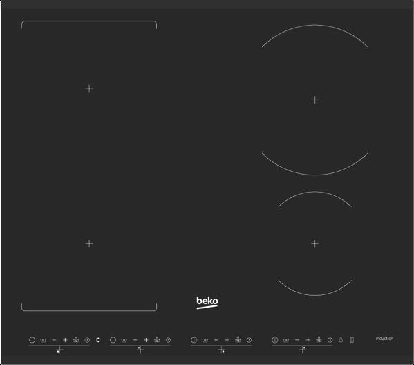 Beko 60cm Induction Cooktop - Black BCT601IG