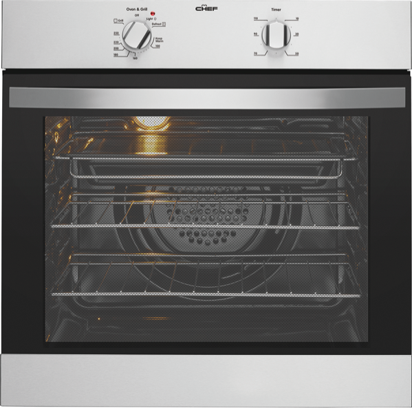 Chef 60cm Built-in Oven - Stainless Steel CVE612SA