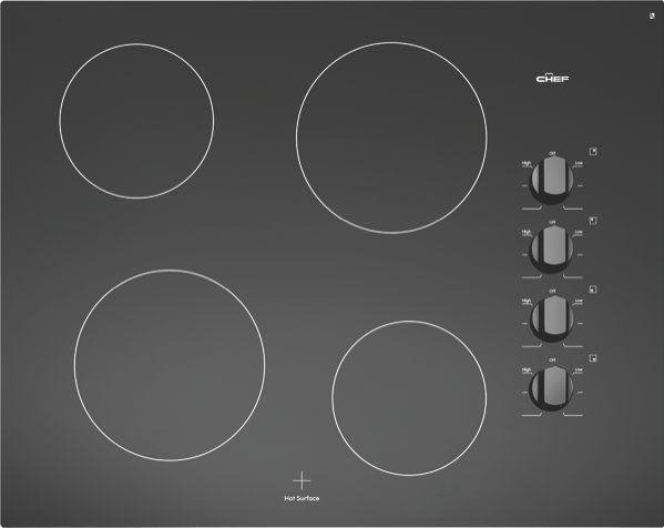 Chef 60cm Ceramic Cooktop - Black CHC644BA