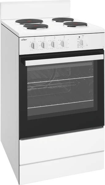 54CM FREESTANDING ELECTRIC COOKER - WHITE