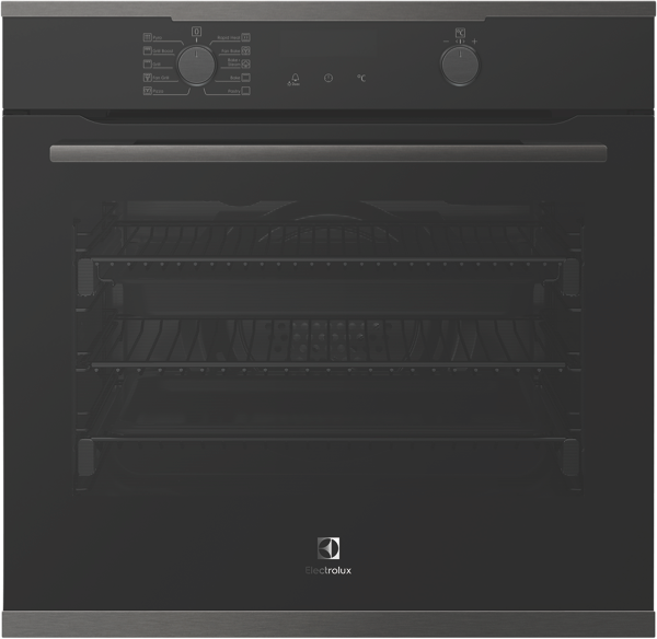 60CM BUILT-IN PYROLYTIC OVEN - DARK STAINLESS STEEL
