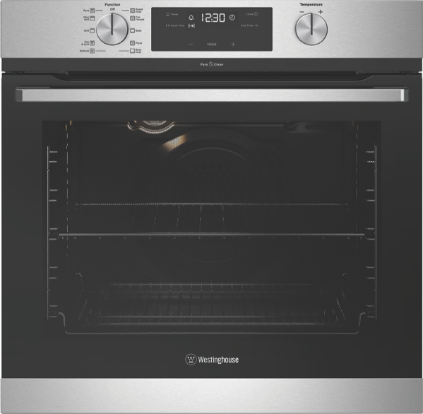 60CM BUILT-IN PYROLYTIC OVEN - STAINLESS STEEL