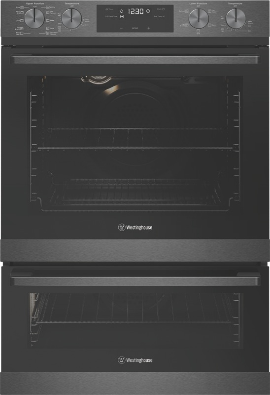 Westinghouse 60cm Built-In Pyrolytic Double Oven - Dark Stainless Steel WVEP627DSC