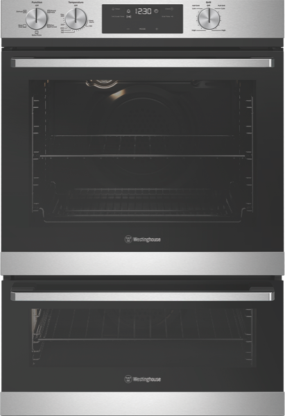 60CM BUILT-IN DOUBLE OVEN - STAINLESS STEEL