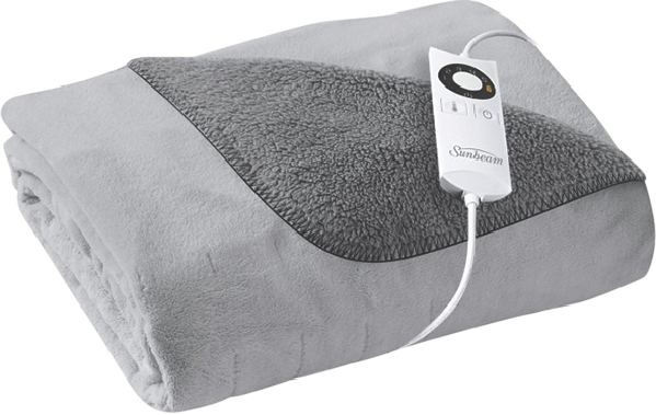 QUICK & COSY REVERSIBLE ELECTRIC THROW - GREY