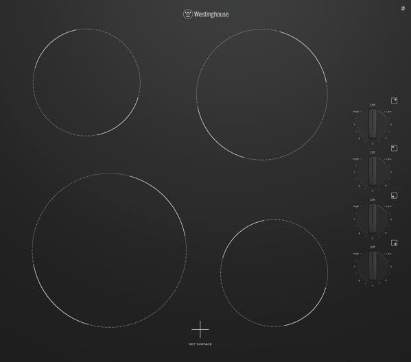 Westinghouse 60cm Ceramic Cooktop – Black WHC642BC