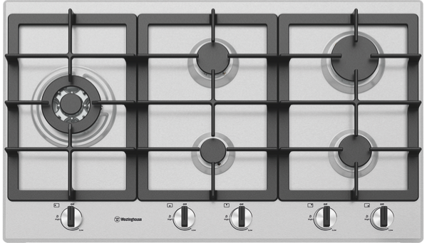 90CM GAS COOKTOP - STAINLESS STEEL