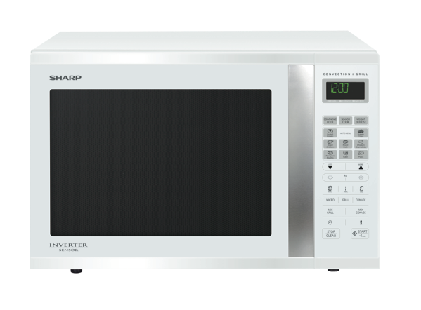 Sharp 1000W Sensor Convection Converter Microwave - White R995DW