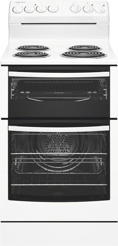 Westinghouse 54cm Freestanding Electric Cooker - White WLE525WB