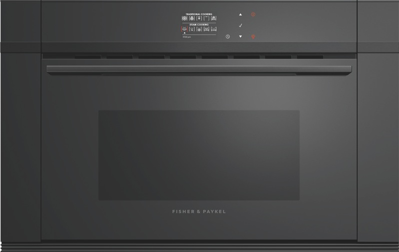 Fisher & Paykel 60cm Built-In Combi Steam Oven - Black OS60NDBB1