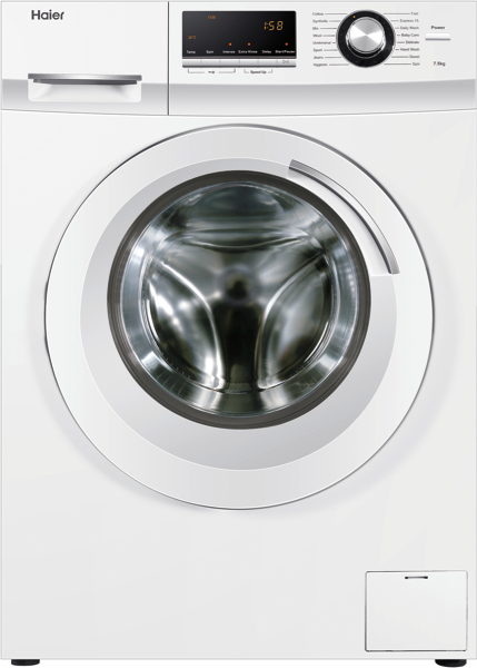 Haier 7.5kg Front Load Washing Machine – White HWF75AW2