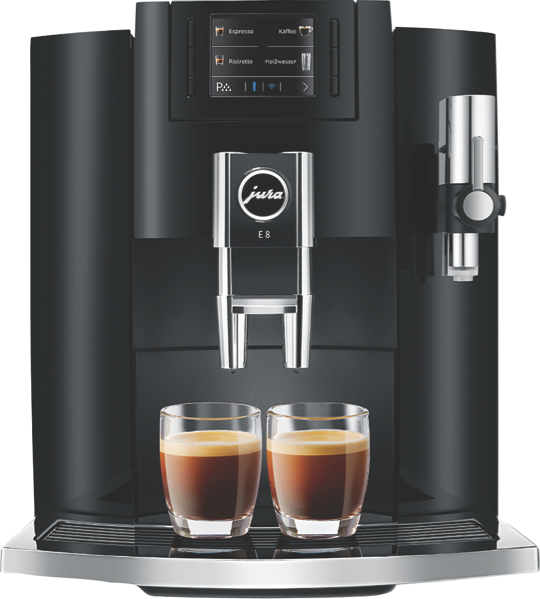 E8 FULLY AUTOMATIC COFFEE MACHINE - PIANO BLACK