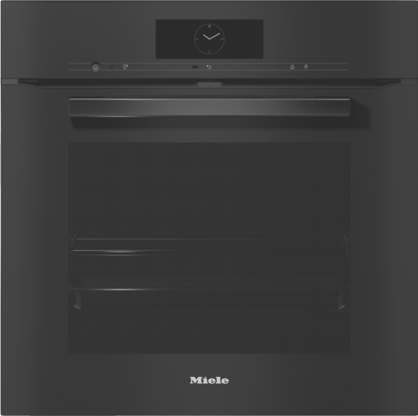 Miele 60cm Built-in Pyrolytic Oven - Black H7860BP VitroLine Obsidian Black