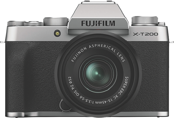 Fujifilm X-T200 Digital Mirrorless Camera with XC 15-45mm Lens - Silver 74381