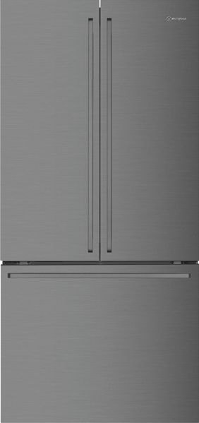524L FRENCH DOOR FRIDGE WITH DRAWER - DARK STAINLESS STEEL