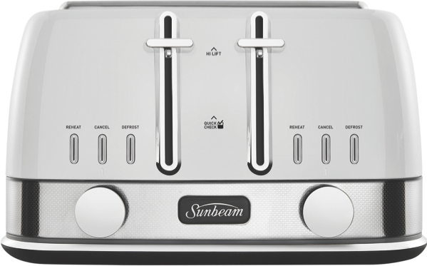 4SL TOASTER NEW YORK  - WHITE SILVER