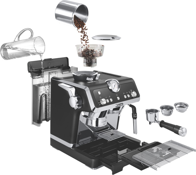 DeLonghi La Specialista Pump Coffee Machine - Matt Black EC9335BM