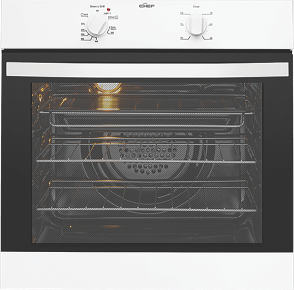 Chef 60cm Built-In Oven - White CVE612WA