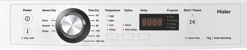 Haier 7kg Vented Dryer - White HDV70E1