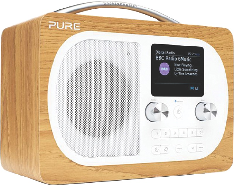 Pure Portable DAB+/FM Radio Evoke H4 Oak