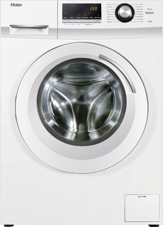Haier 8.5kg Front Load Washing Machine – White HWF85BW1