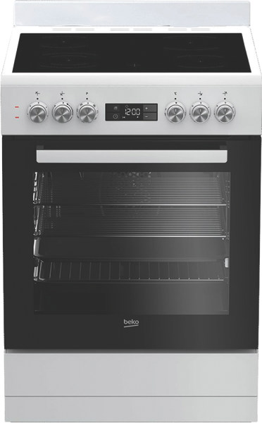 60CM FREESTANDING ELECTRIC COOKER - WHITE