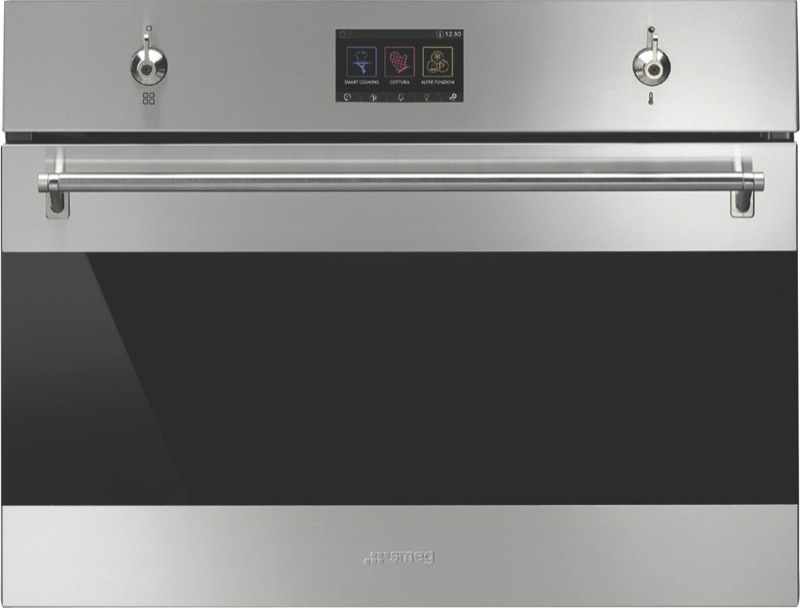 Smeg 60cm Built-in Compact Speed Oven - Stainless Steel SFA4303MCX