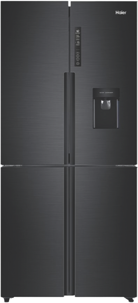 Haier 565L Quad Door Fridge – Matte Black HRF565YHC