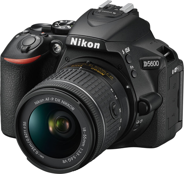 Nikon D5600 Digital SLR Camera + AFP DX 18-55mm + AFS DX 55-200mm Lens Kits D5600 AFP 18-55mm VR & 55-200mm VRII