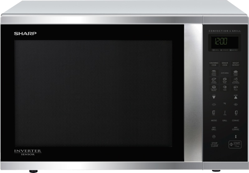 Sharp 1000W Sensor Convection Inverter Microwave - Stainless Steel R995DST