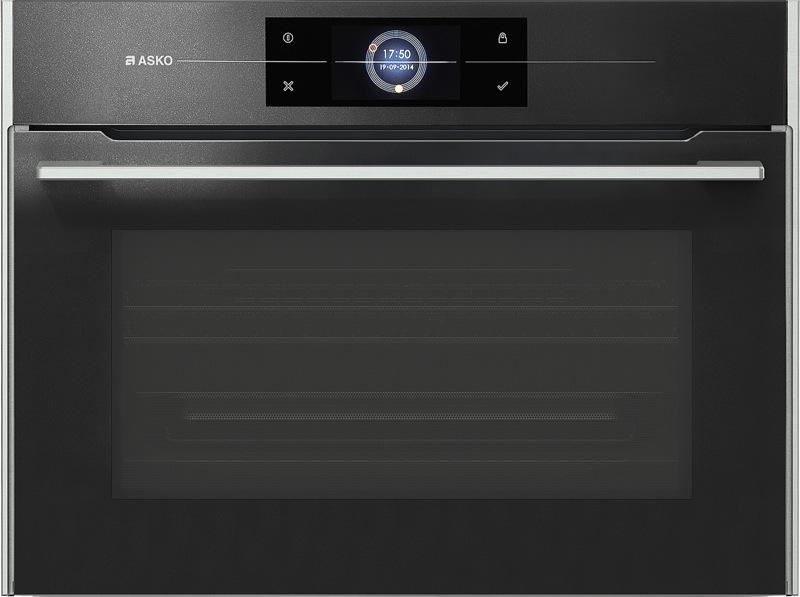 Asko 45cm Built-In Combi Microwave Oven - Black OCM8478G