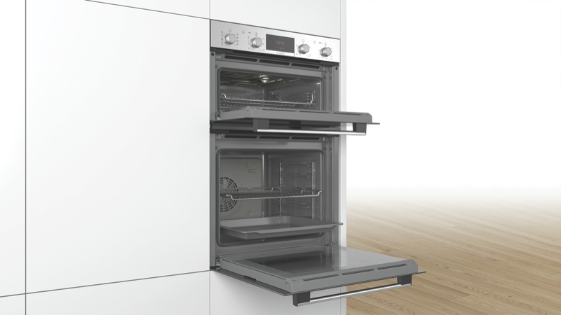 Bosch 60cm Built-In Double Oven - Stainless Steel MBA534BS0A