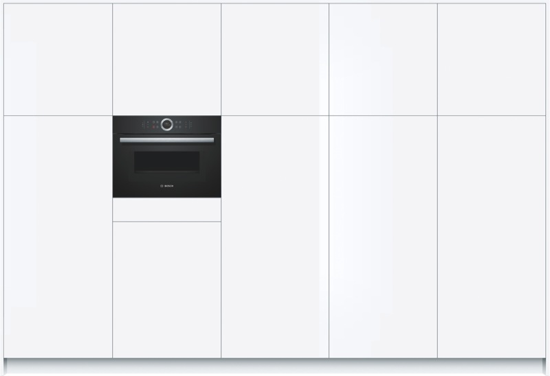 Bosch 45cm Built-In Combi Microwave Oven - Black CMG633BB1A