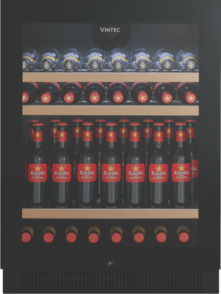 Vintec 100 Beer Bottle Beverage Centre - Black Glass VBS050SBBX