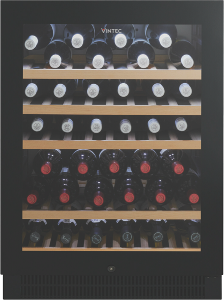 Vintec 50 Bottle Wine Cellar - Black Glass VWS050SBBX