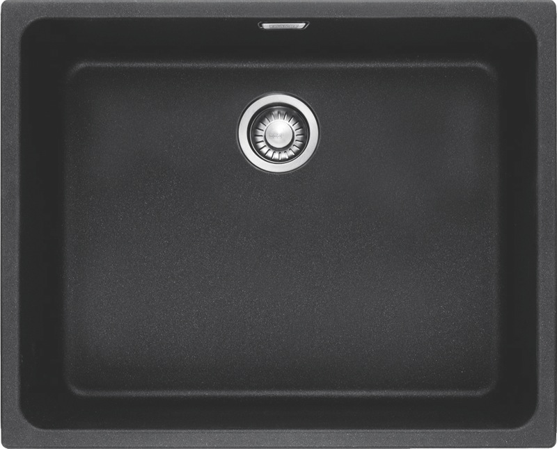 Franke Kubus Single Bowl Undermount Sink - Fragranite Onyx KBG11050ONYX